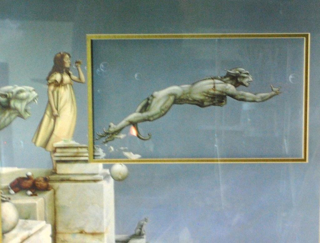 "292B: Michael Parkes Lithograph ""Gargoyles"" - 2"