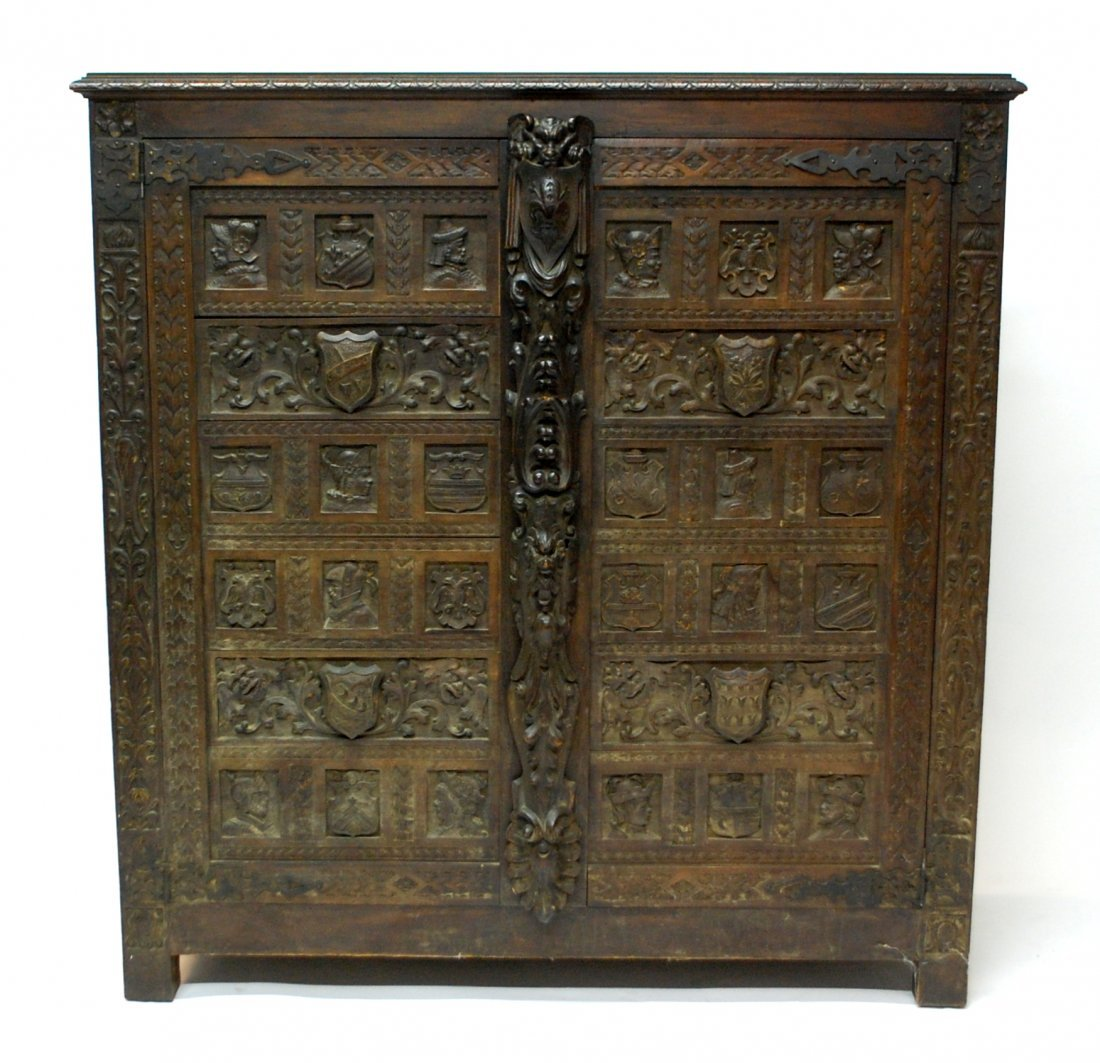 Important 16th Century Flemish Cupboard Armoire