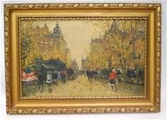 Berkes signed Oil Painting on Canvas