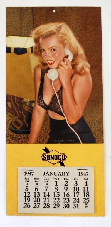 1947 Marilyn Monroe SUNOCO Calendar Colosint