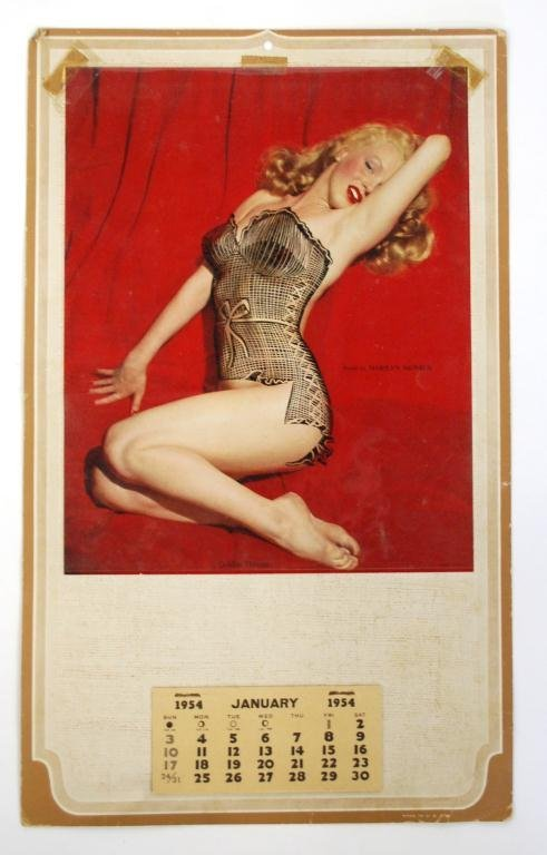 "1954 Marilyn Monroe ""Golden Dreams"" Calendar w Overlay"