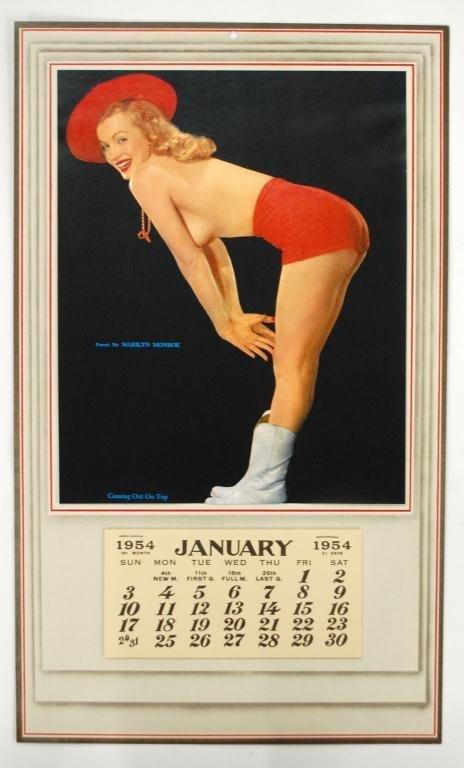 1954 Marilyn Monroe Calendar Out On Top