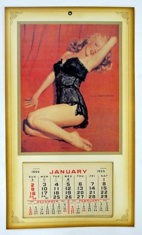1955 Marilyn Monroe Calendar w/ Lace Overlay