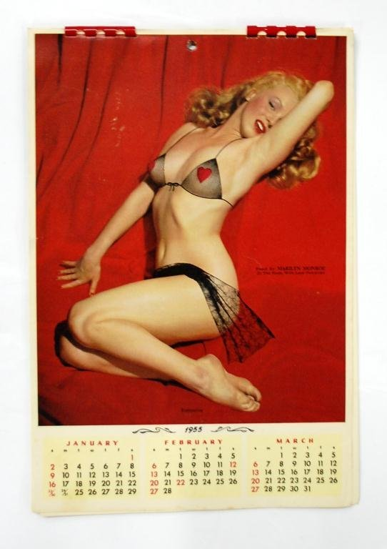 1955 Marilyn Monroe Calendar Overprint Bra & Underpants