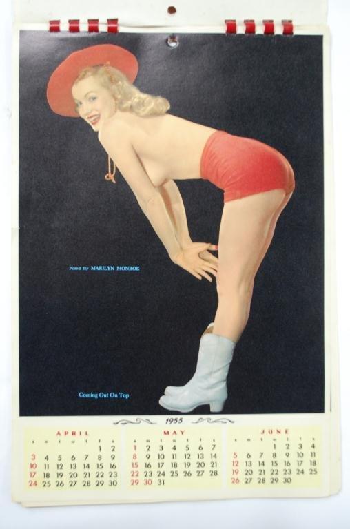 1955 Marilyn Monroe 4 Page Calendar