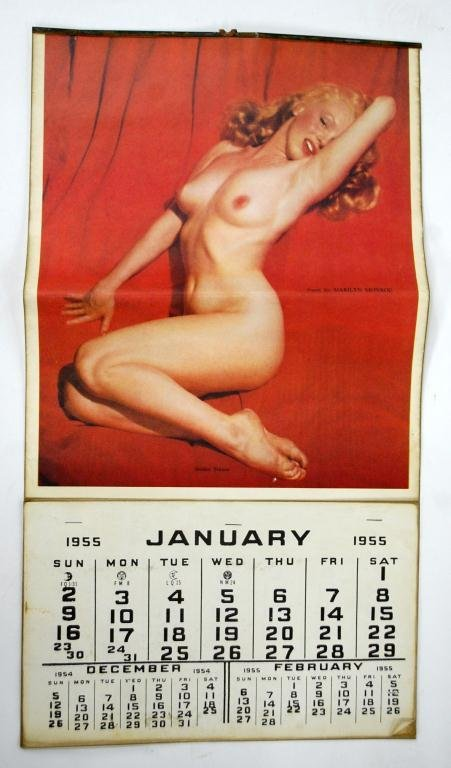 "1955 Marinlyn Monroe Calendar ""Golden Dreams"""