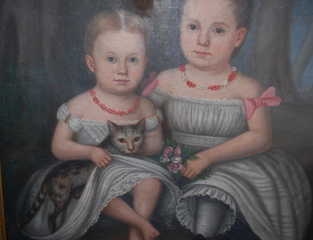 1860's N.C. Portrait Russell Girls w/ Cat--Roberts - 3