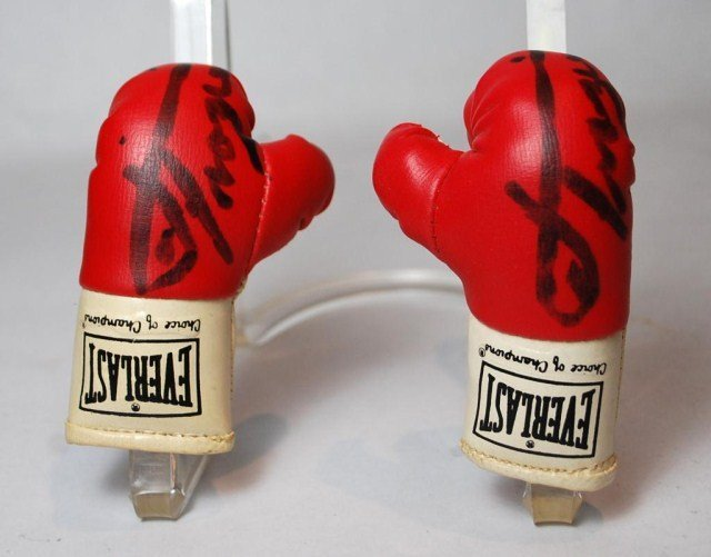Joe Frasier Autographed Mini Boxing Gloves