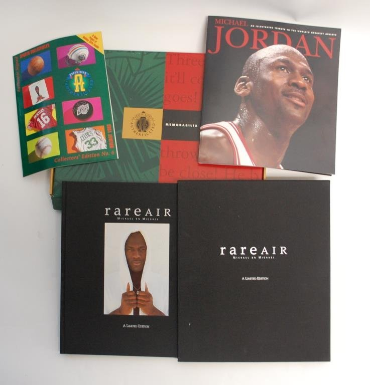 "Michael Jordan Autographed Book ""Rare Air"""