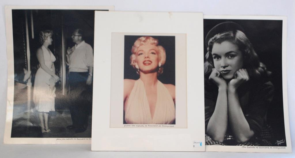 3 Marilyn Monroe Photos from Bernard of Hollywood