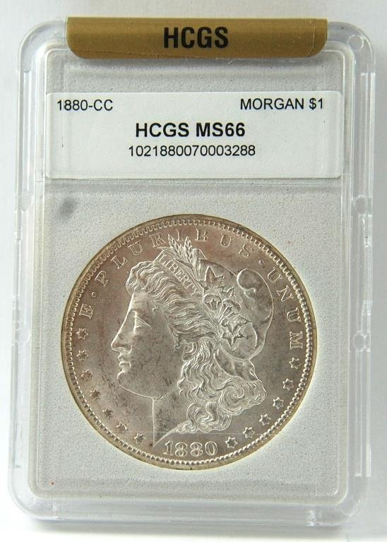 1880- cc Morgan Silver Dollar