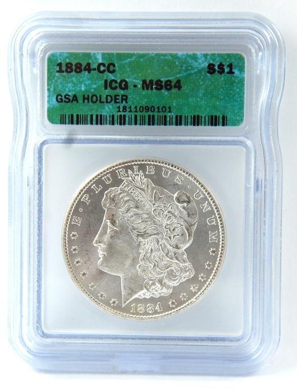 1884-cc Morgan Silver Dollar