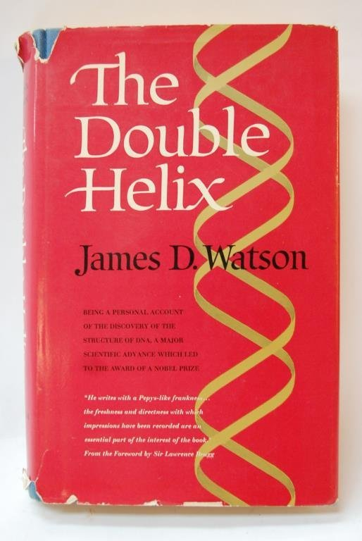 "James Watson Signed ""The Double Helix"" Book"