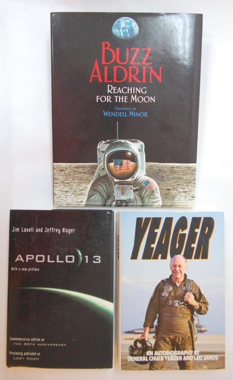 Buzz Aldrin, Chuck Yeager, & Jim Lovell Signed