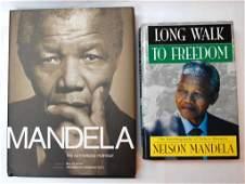 Two Nelson Mandela  Books w Signatures