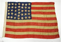 19th Century 36 Star United States Flag