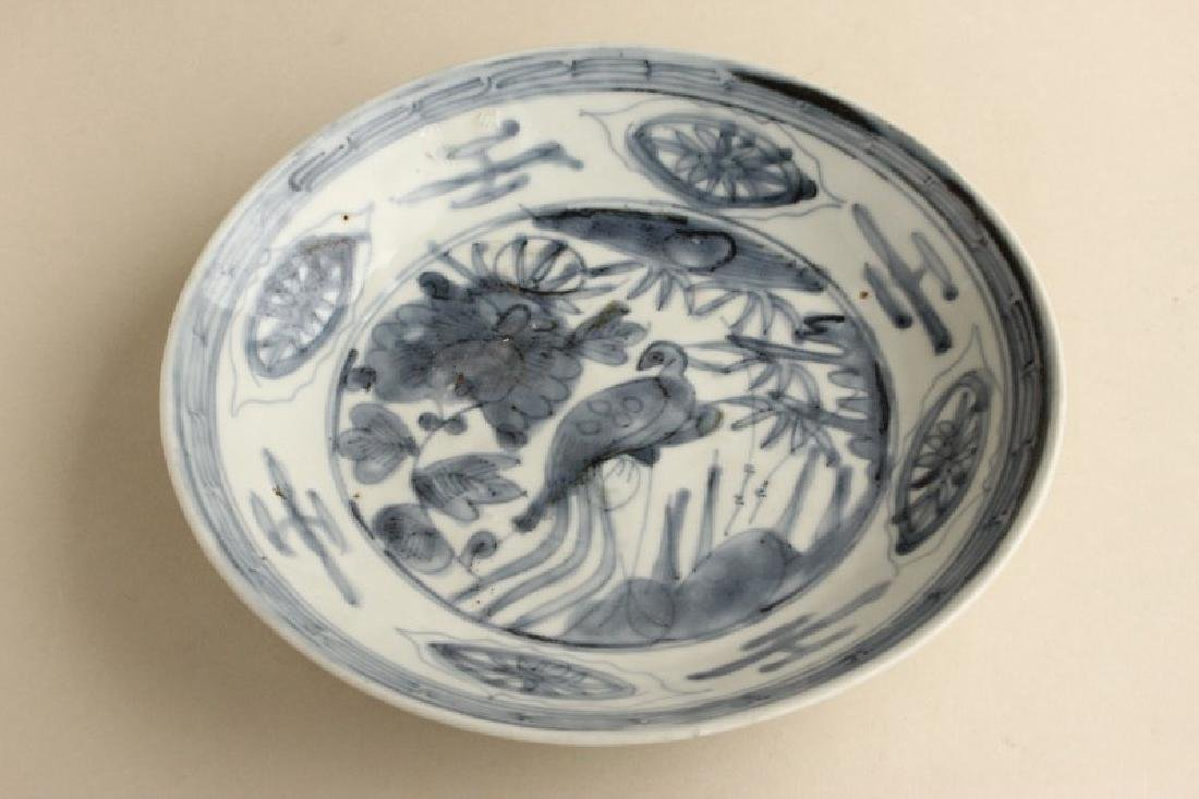 Early Chinese Blue and White Plate,