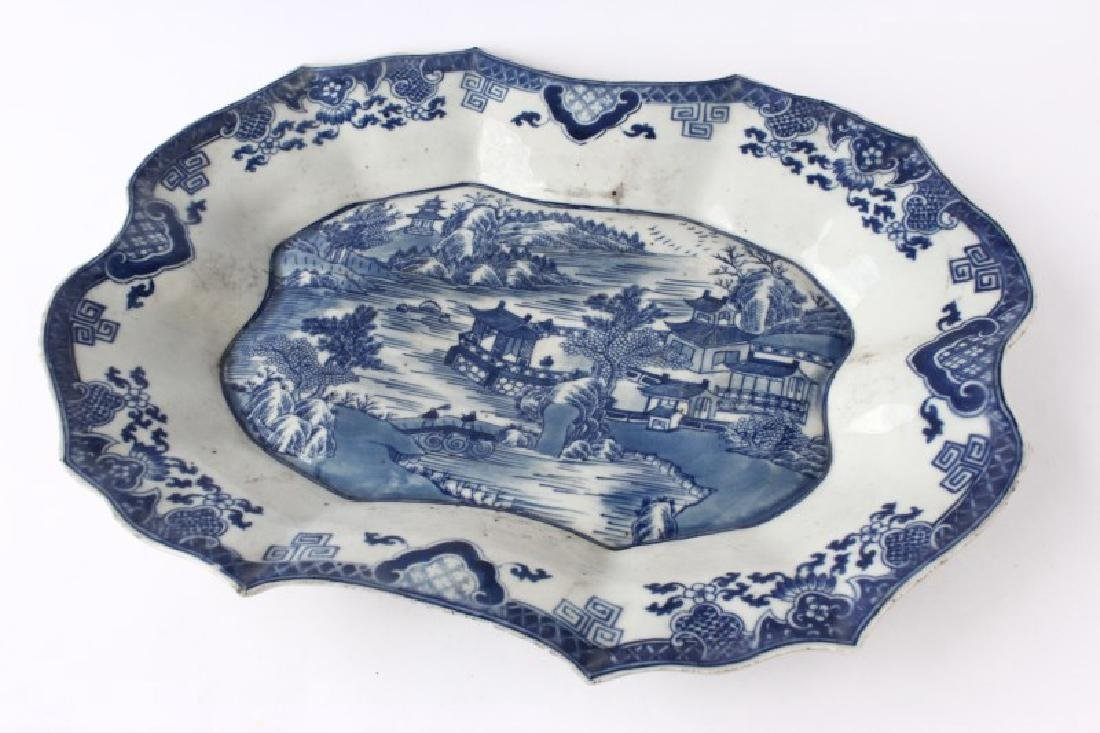 Chinese Blue and White Export Platter,