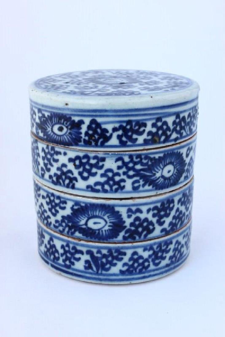 Chinese Qing Dynasty Three Tier Paste Box and