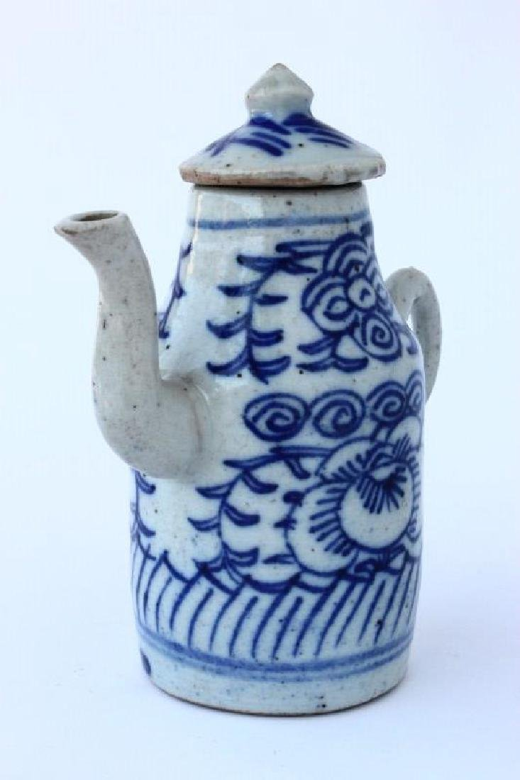 Chinese Qing Dynasty Porcelain Ewer, - 2