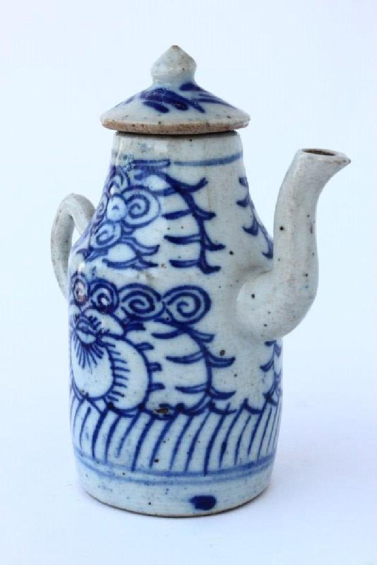 Chinese Qing Dynasty Porcelain Ewer, - 3