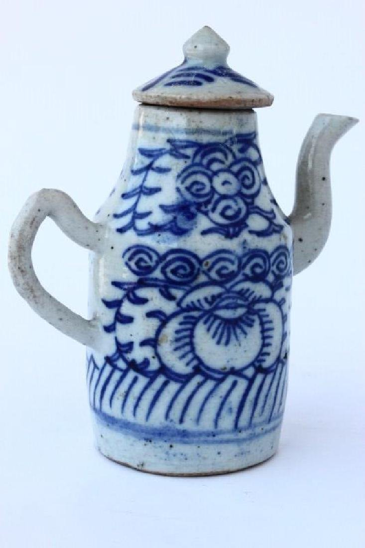 Chinese Qing Dynasty Porcelain Ewer, - 4