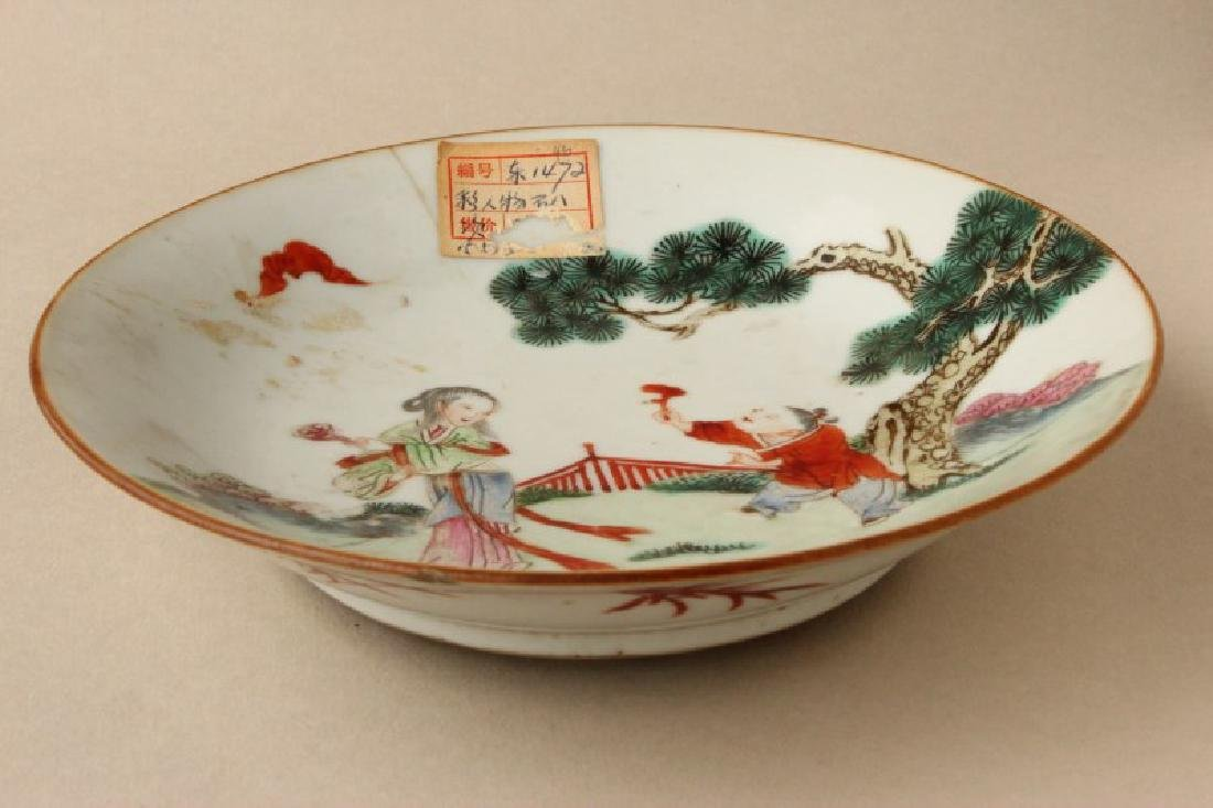 Chinese Qing Dynasty Famille Vert Porcelain Dish, - 2