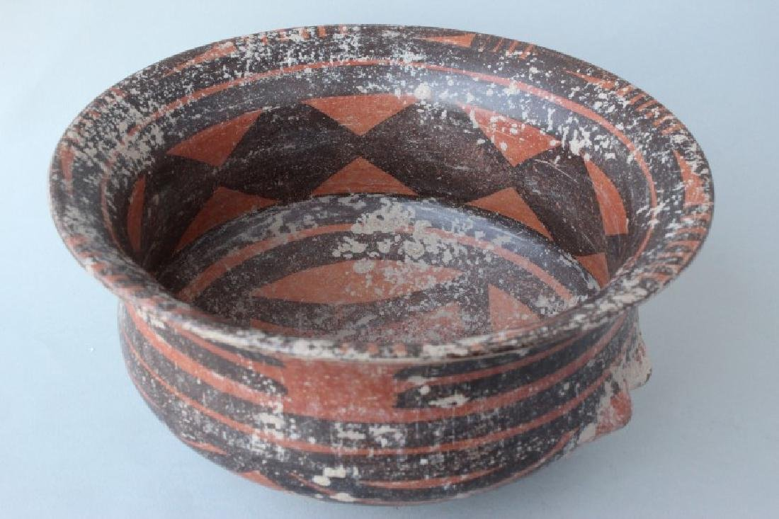 Chinese Yangshao Style Earthen Ware Bowl, - 4