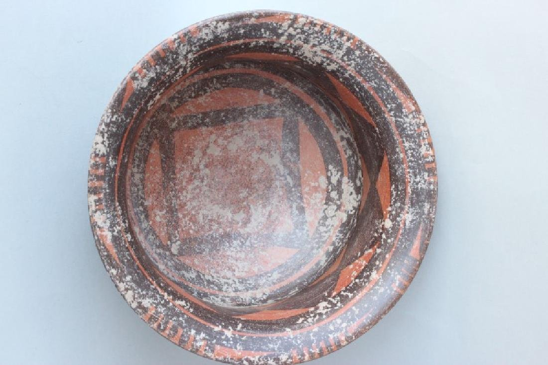 Chinese Yangshao Style Earthen Ware Bowl, - 5