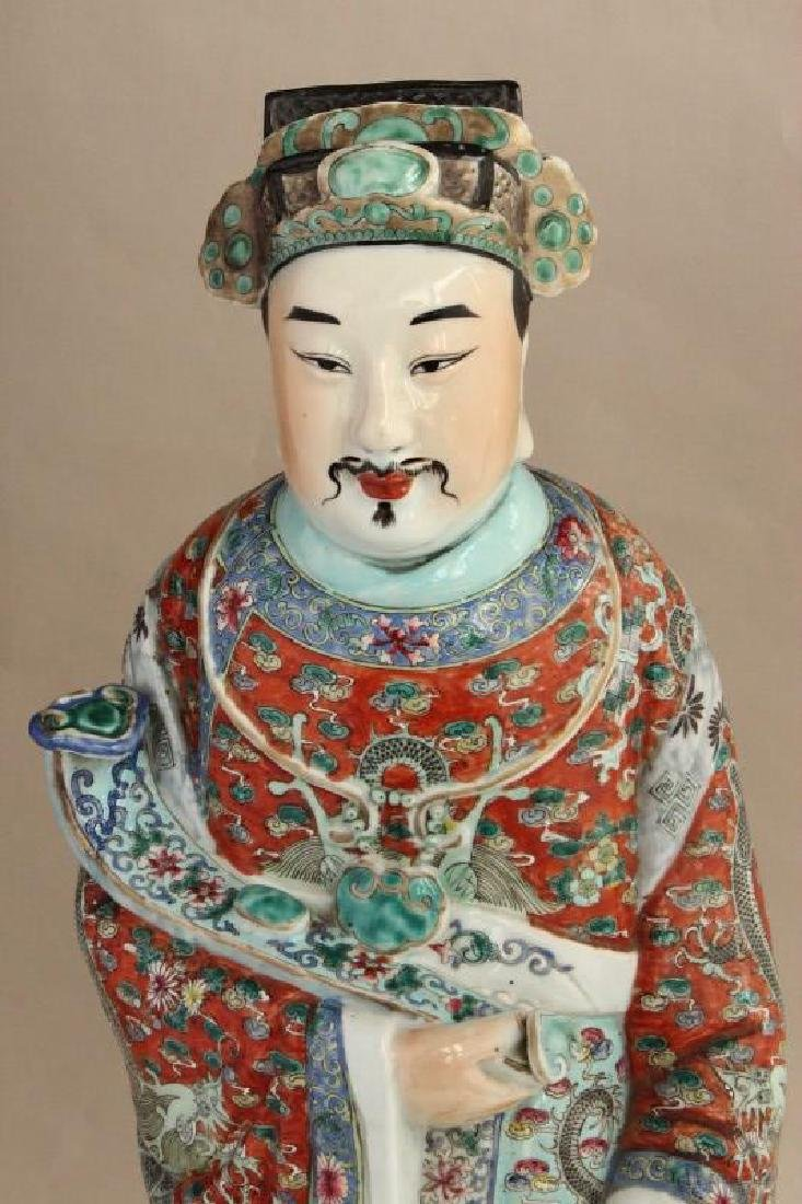 Large Chinese Porcelain Figure, - 2