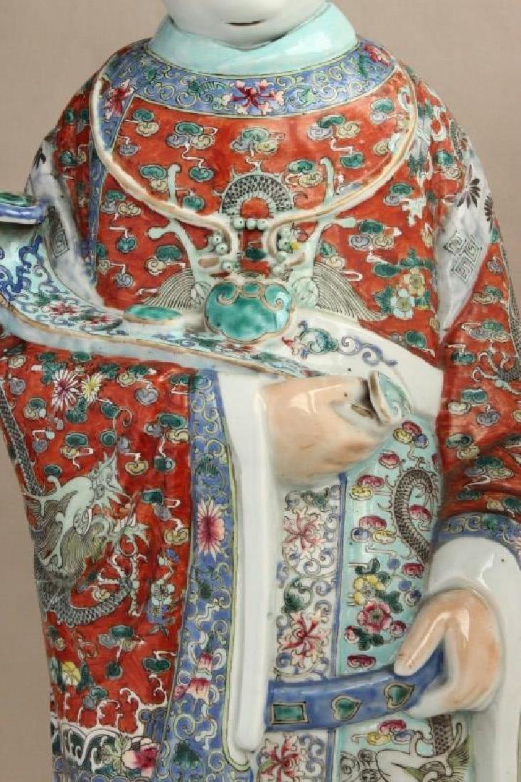Large Chinese Porcelain Figure, - 4