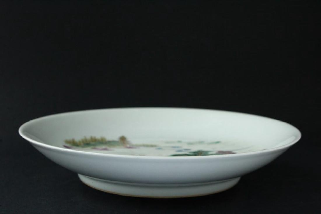 Chinese Porcelain Plate, - 4