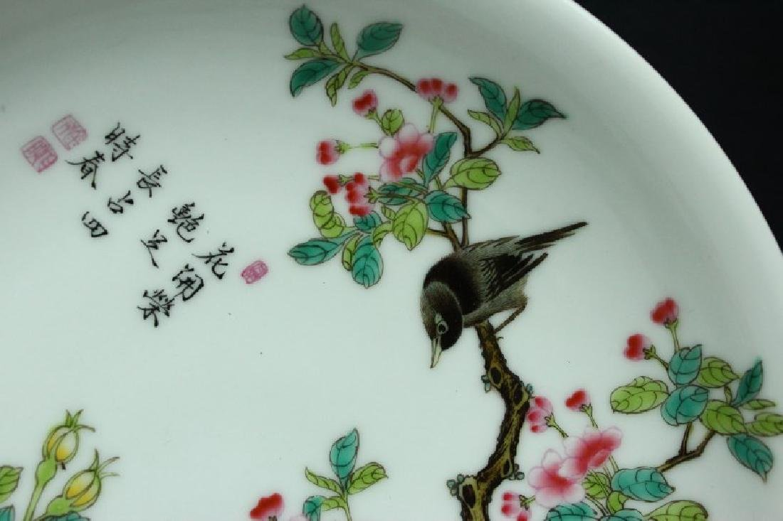 Chinese Porcelain Plate, - 5