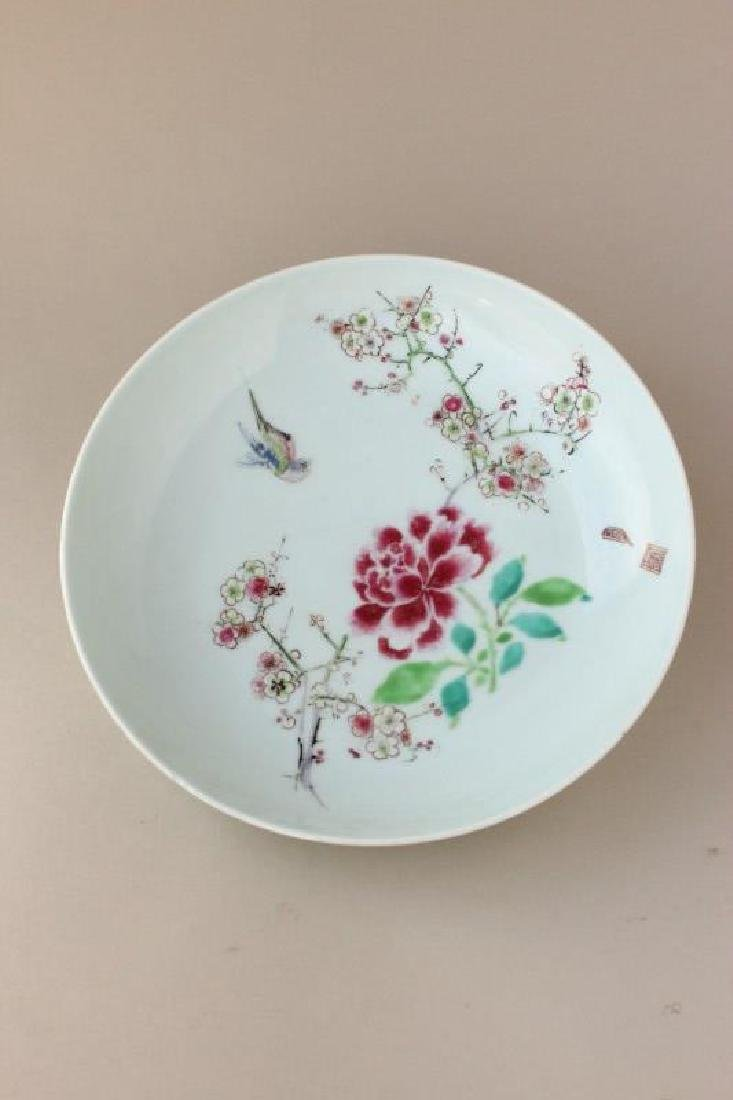Chinese Famille Rose Porcelain Plate,