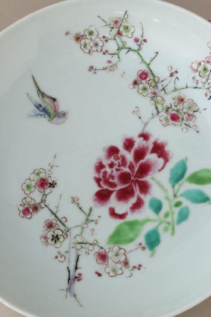 Chinese Famille Rose Porcelain Plate, - 2
