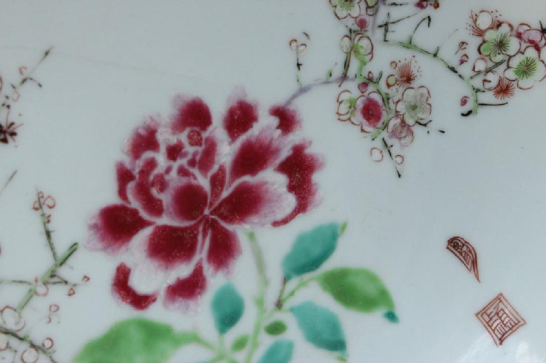 Chinese Famille Rose Porcelain Plate, - 3