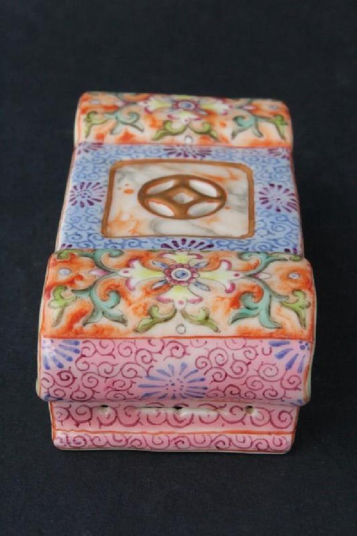 Chinese Porcelain Scholars Brush Rest, - 4