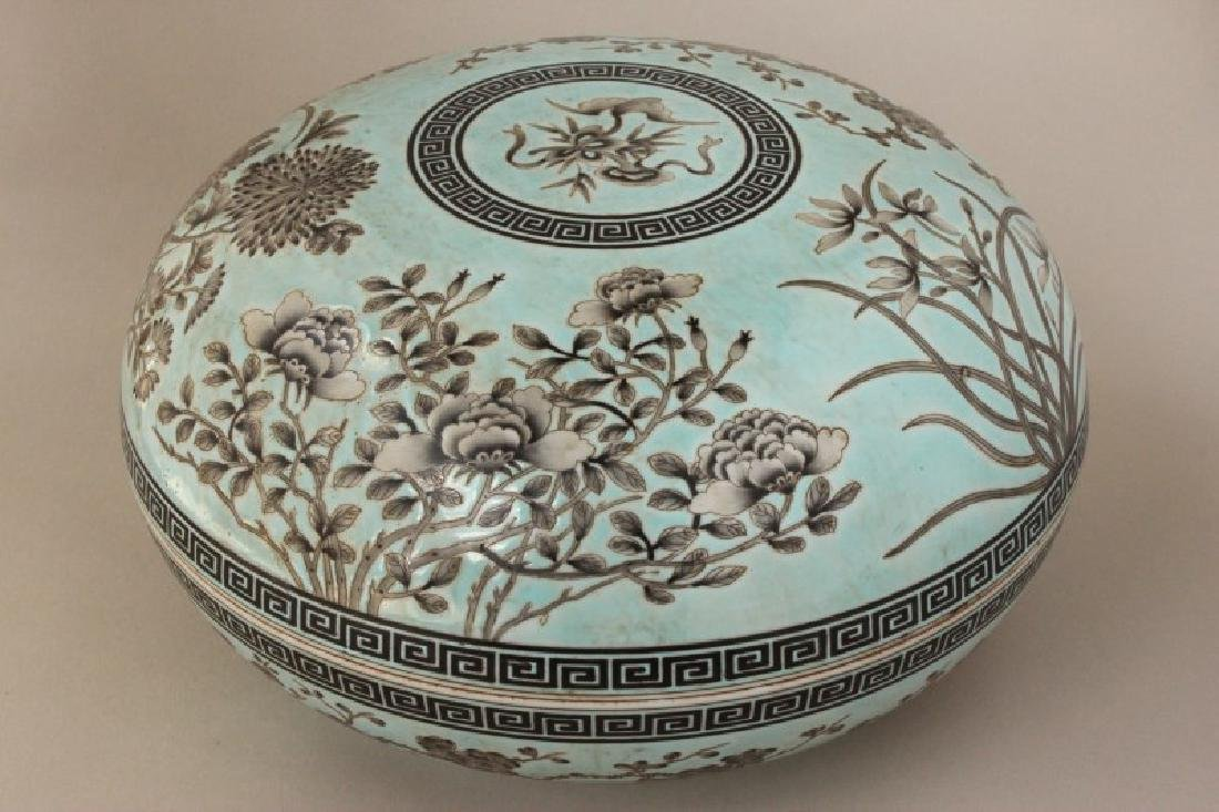Large Chinese Porcelain Box and Cover,