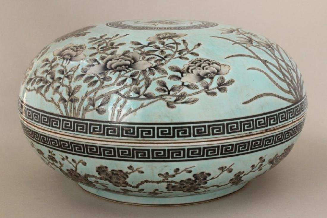 Large Chinese Porcelain Box and Cover, - 2
