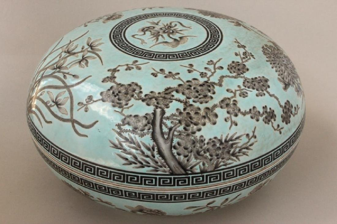 Large Chinese Porcelain Box and Cover, - 3