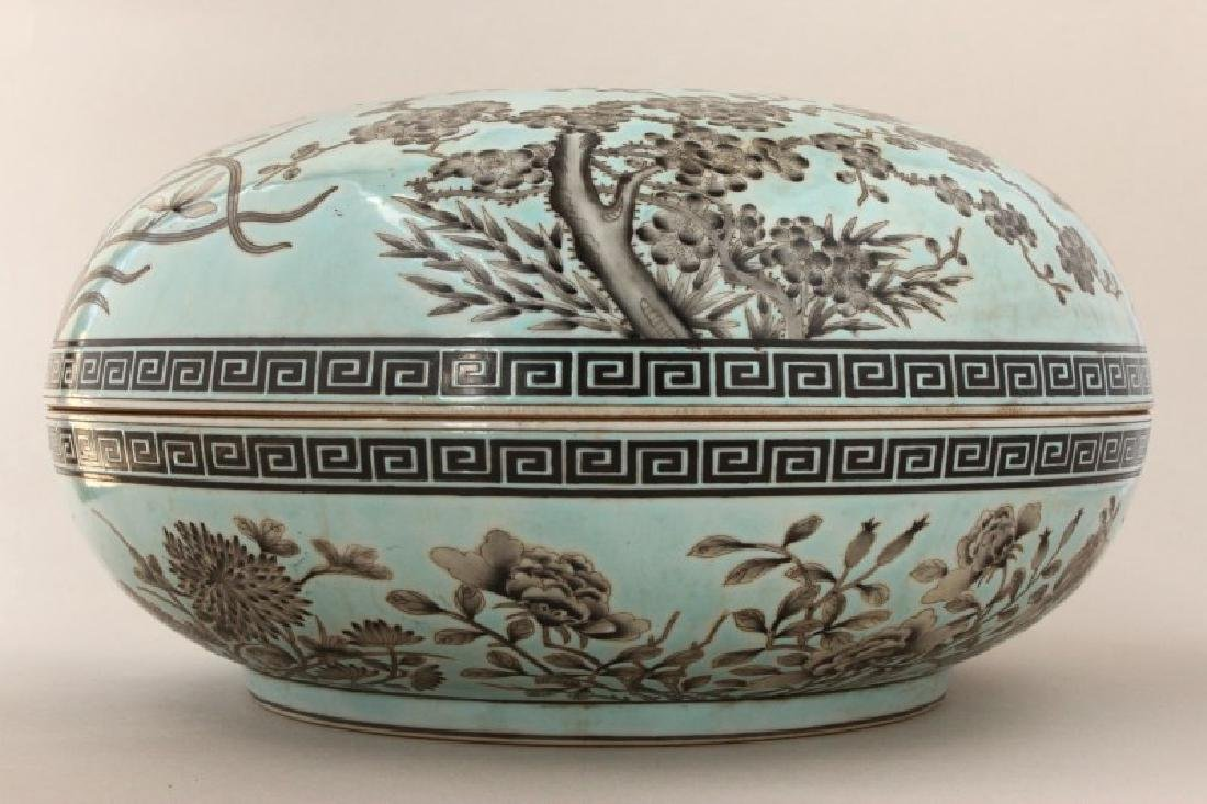 Large Chinese Porcelain Box and Cover, - 4
