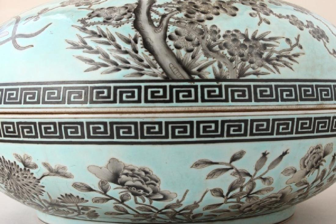 Large Chinese Porcelain Box and Cover, - 5