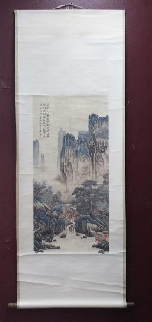 Chinese Painted Scroll,