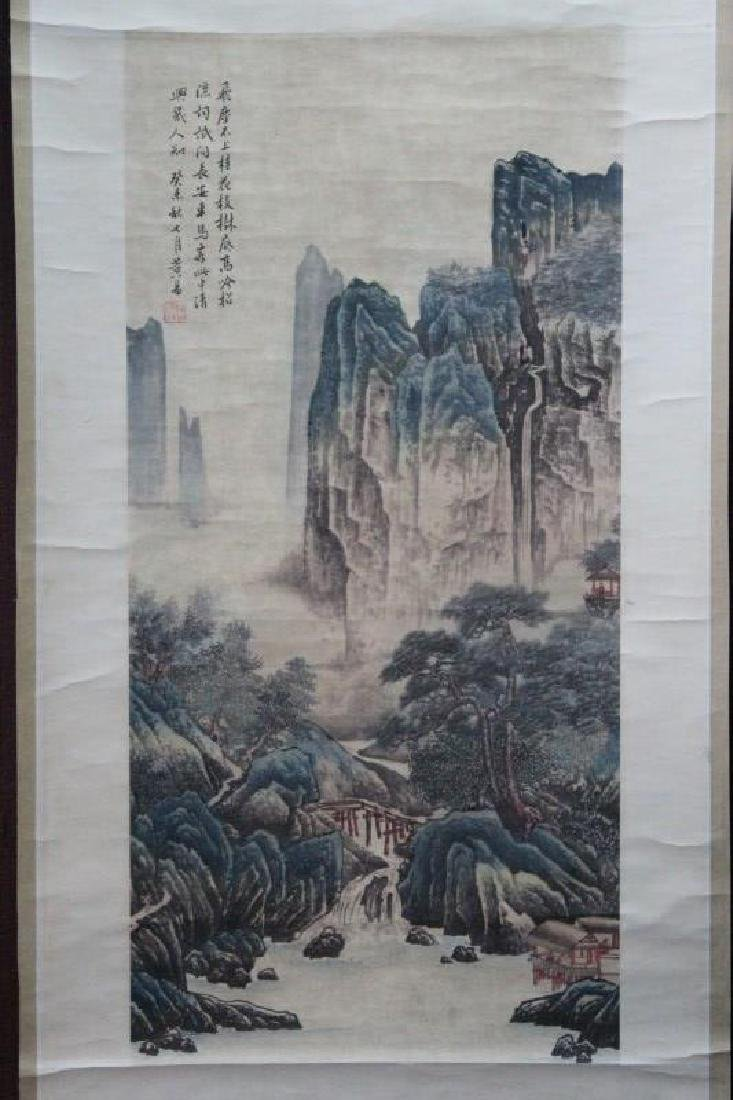 Chinese Painted Scroll, - 4