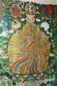 Framed Tibetan Thangka,