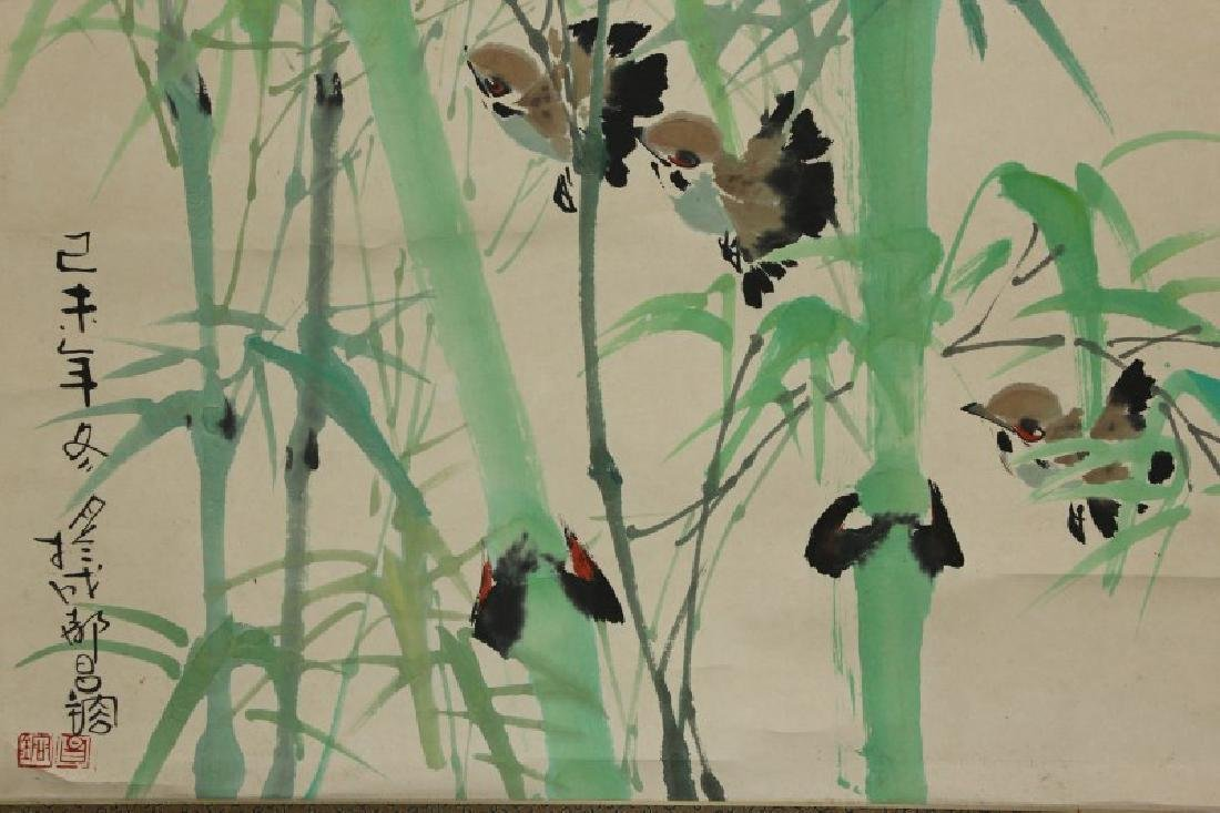 Chinese Hanging Scroll, - 3