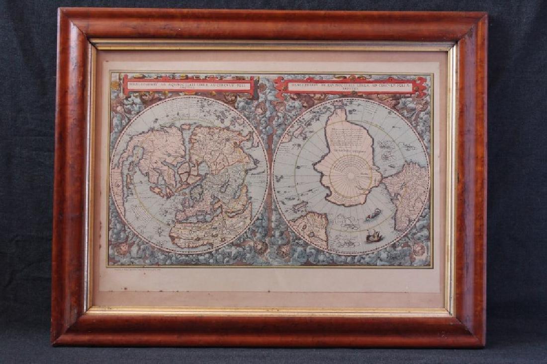 "Framed Map ""Hemispher IV Aeqvinoctiali Linea ad"