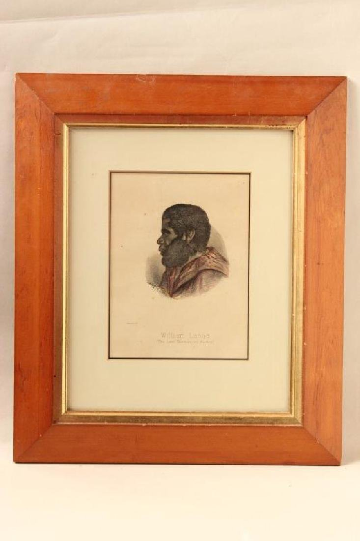 Coloured Lithograph of William Lanne,