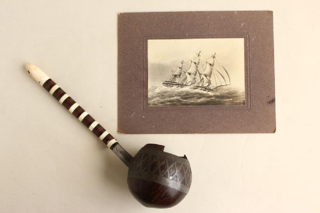 19th Century Whale Bone, Wood and Coconut Water - 2