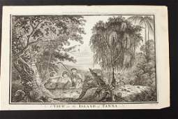 18th Century Engraving A View in the Island of